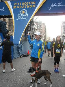 At the finish of the 2013 Boston Marathon